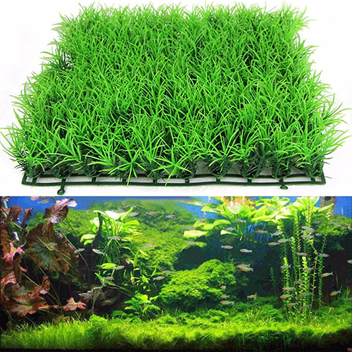 Heepo Artificial Water Aquatic Green Grass Plant Lawn Aquarium Fish Tank Landscape