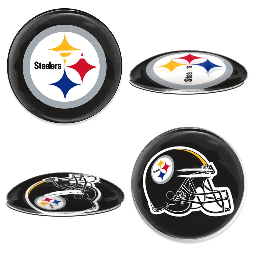 Pittsburgh Steelers Official NFL  Sport Dotts Magnet 2 Pack by Wincraft