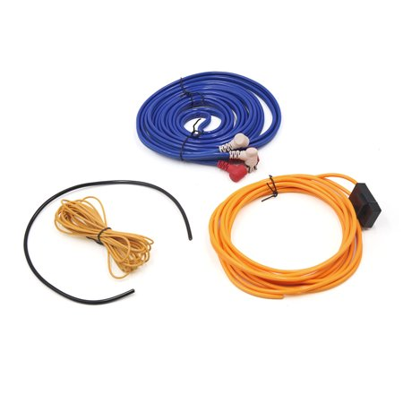 Audio Subwoofer Amplifier Wiring Fuse Holder Kit RCA Cable for Auto Car Vehicle - image 3 of 3