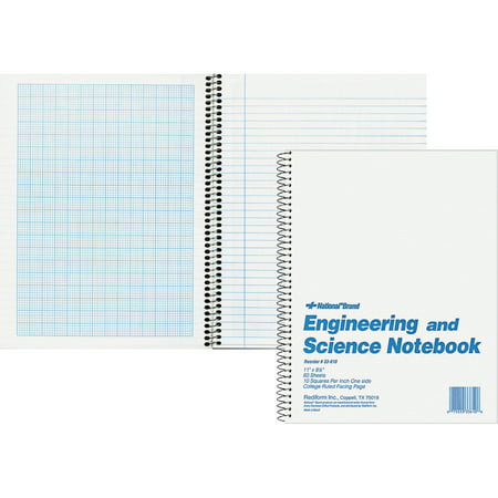 Rediform, RED33610, Engineering and Science Notebook - Letter, 1 (Engineering Notebook)