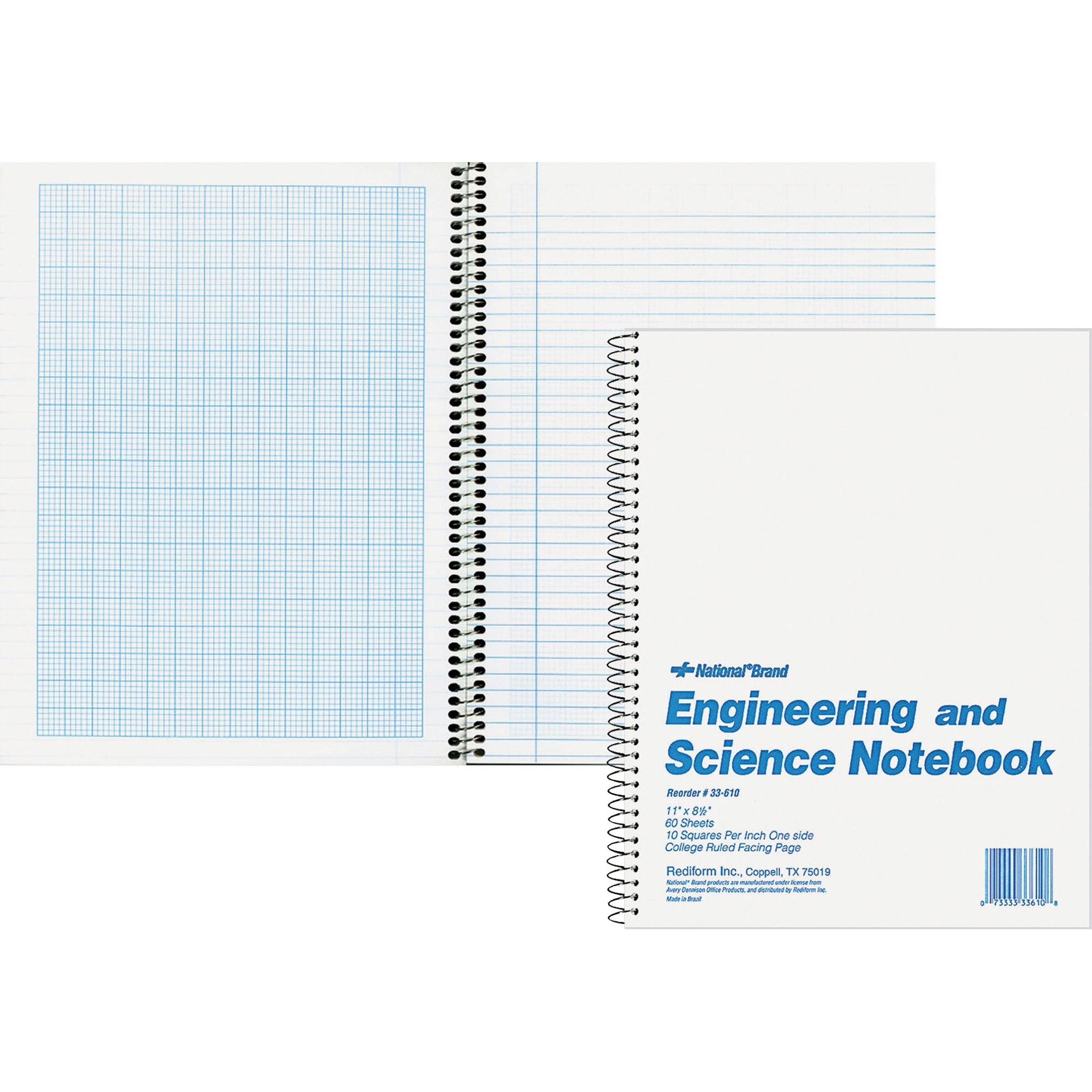 Rediform, RED33610, Engineering and Science Notebook - Letter, 1 Each