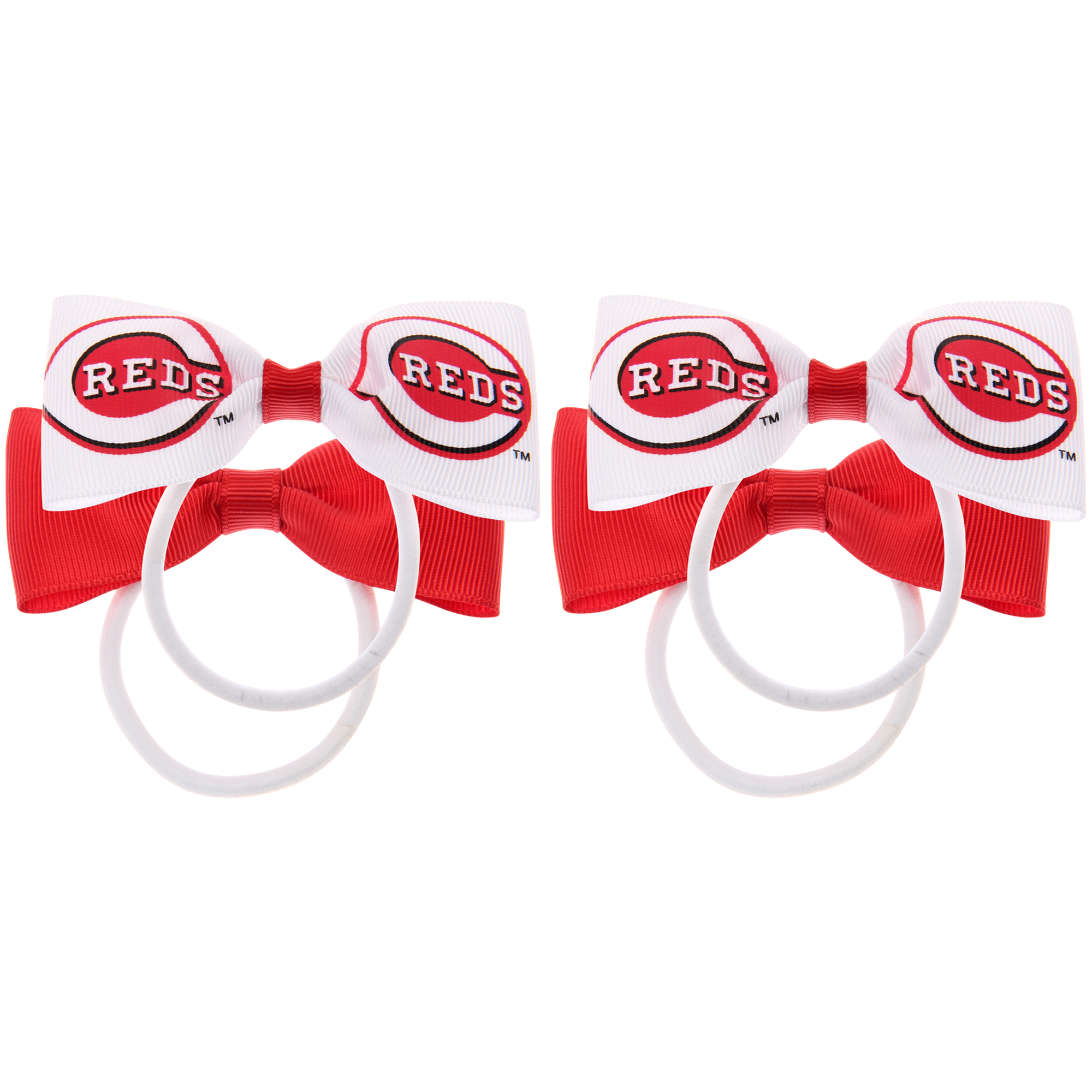 Cincinnati Reds Quad Hair Bow Set - No Size