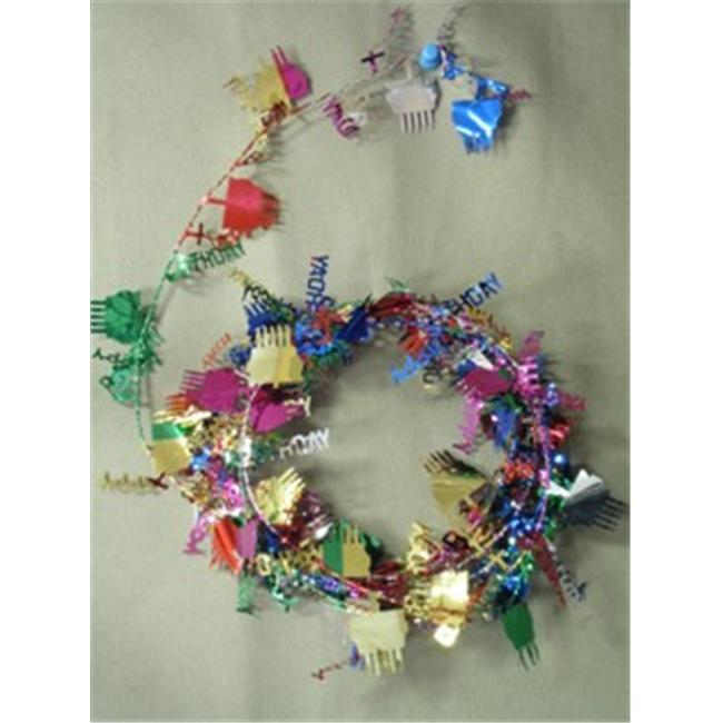 Party Deco 04734 9 ft. Multi  in.Happy Birthday in. Wire Garland - Pack of 12