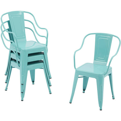 Click here to buy Better Homes and Gardens Camrose Farmhouse Industrial Chairs, 4pk.