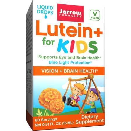 Jarrow Formulas Lutein + for Kids, Supports Eye and Brain Health* Blue Light Protection*, 15 ML