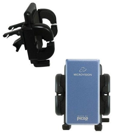 Gomadic Air Vent Clip Based Cradle Holder Car   Auto Mount Suitable For The Microvision Showwx Laser Pico   Lifetime Warranty