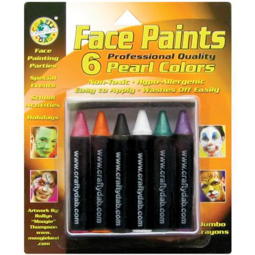 Jumbo Face Paints 6/Pkg-Pearl
