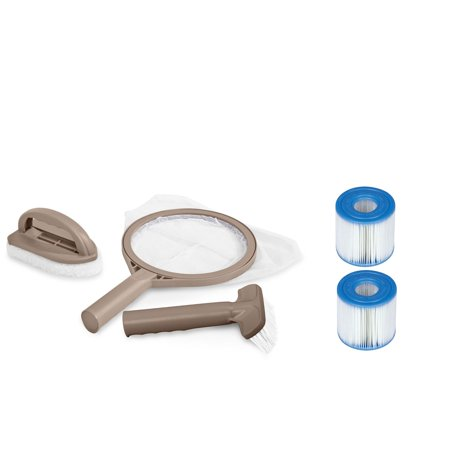Intex PureSpa Hot Tub Maintenance Kit + 2 Pack Pool Filter Cartridges (6 Pack)