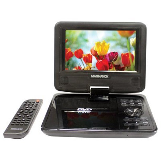 """Magnavox 7"""" Portable DVD Player CD player With TFT Swivel ..."""