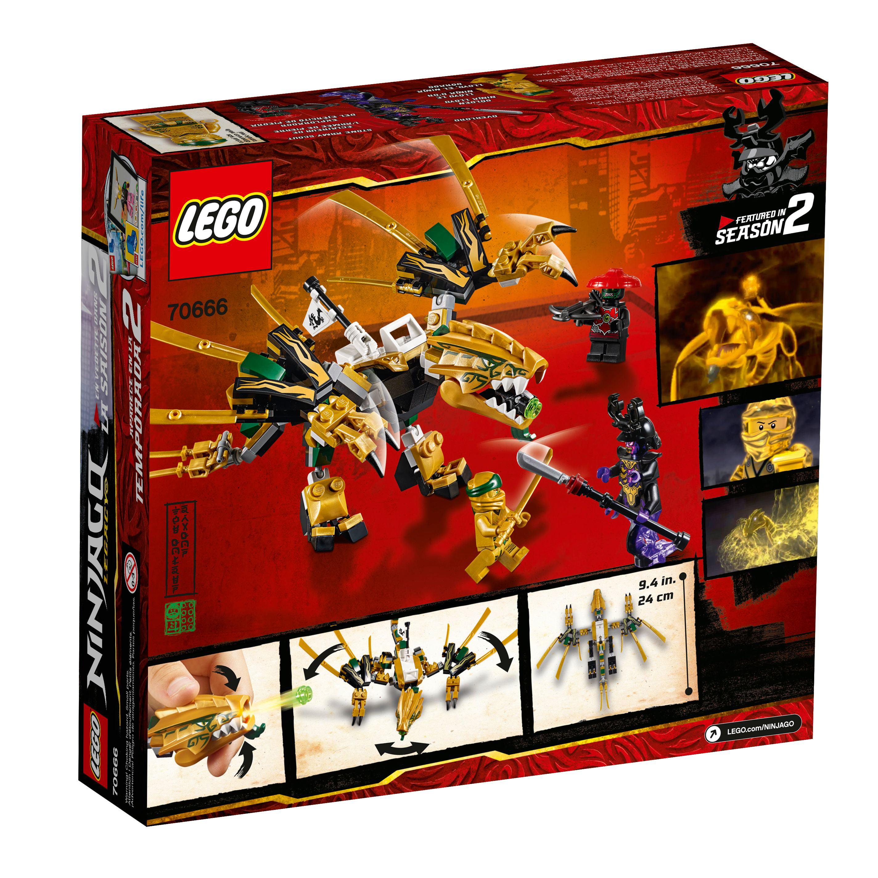 Lego Ninjago The Golden Dragon Building Set 70666 171 Pieces