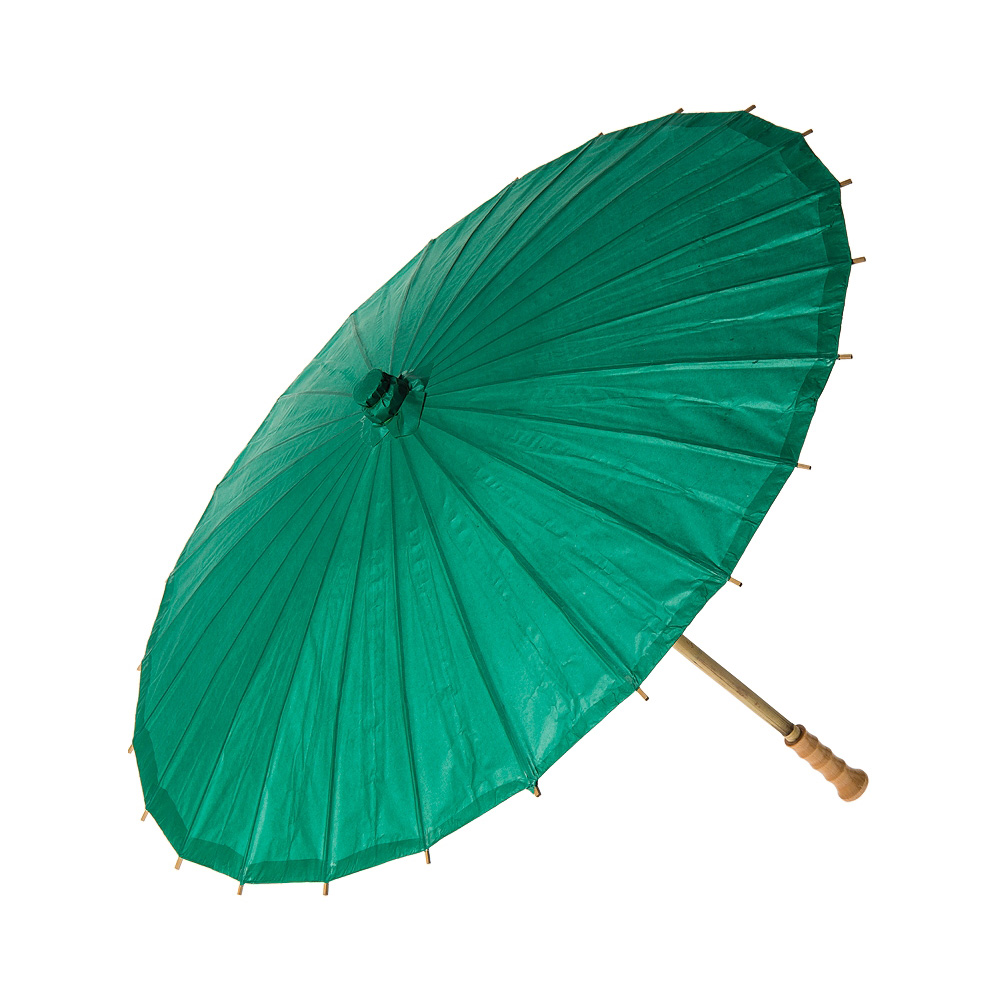 Paper Parasol (20-Inch, Teal) - Chinese/Japanese Paper Umbrella - For Children, Decorative Use, and DIY Projects