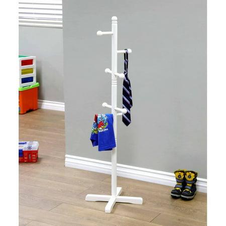 Home Craft Kids Coat Rack, (Peg White Coat Rack)