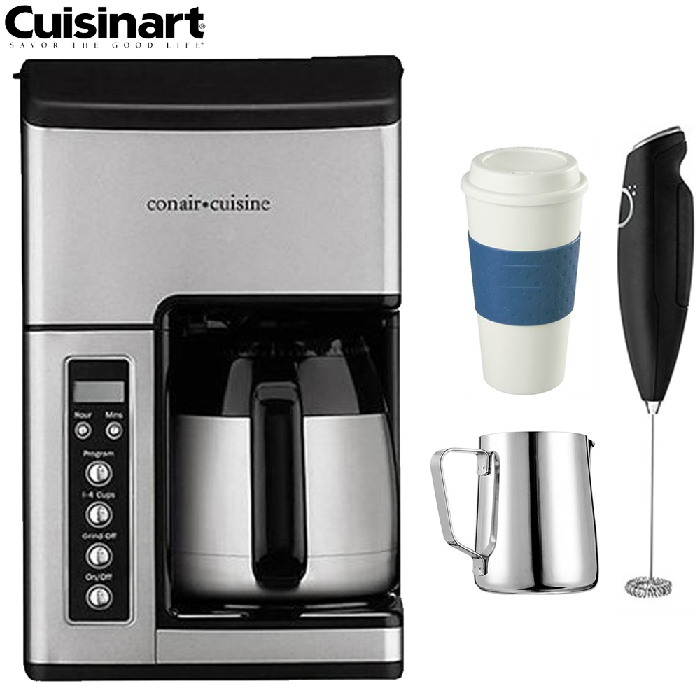 Cuisinart CC-10FR Grind & Brew 10-Cup Coffeemaker - (Certified Refurbished) w/Coffee Drinker Bundle