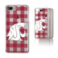 WSU Washington State Cougars Plaid Clear Case for iPhone 8 Plus / 7 Plus / 6 Plus