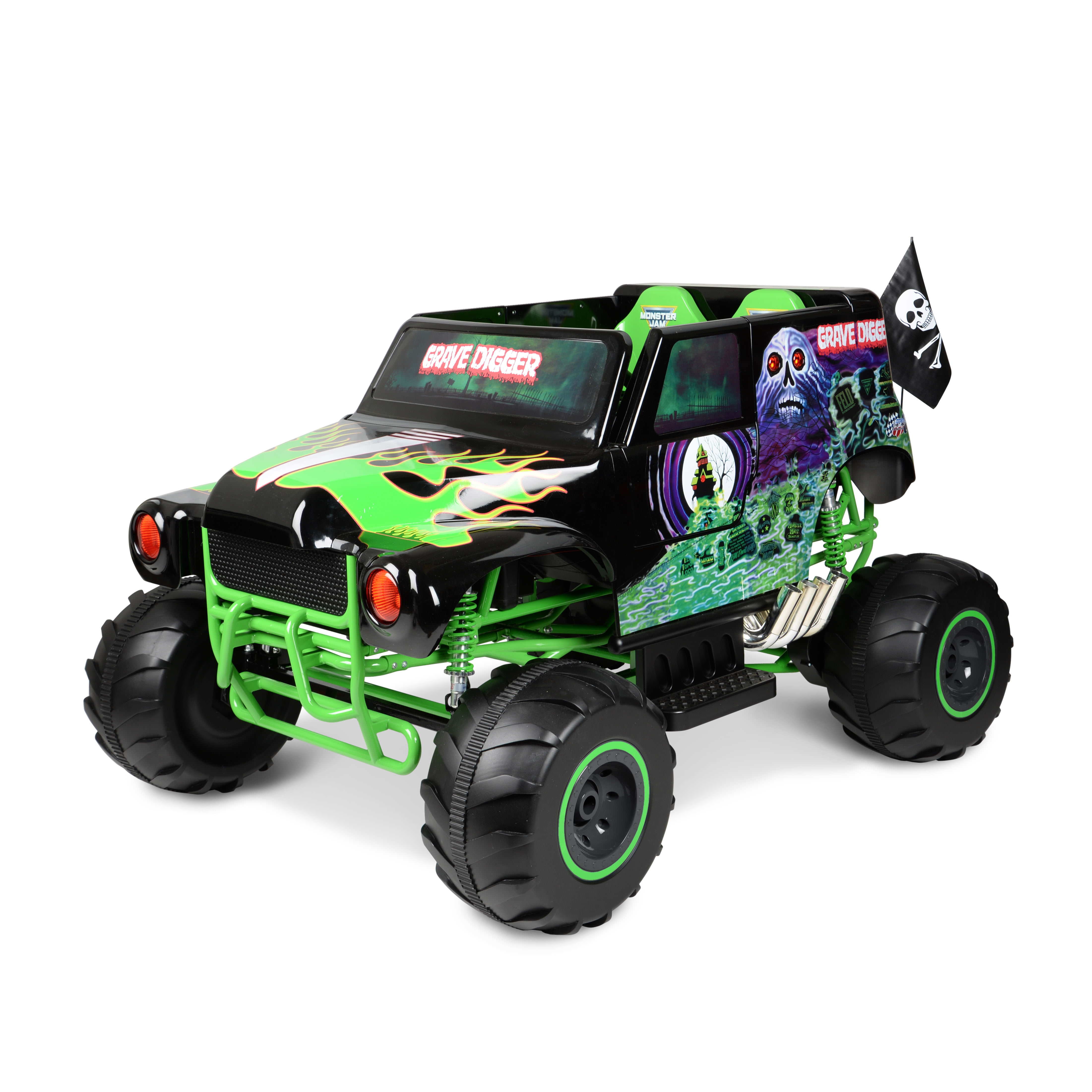 729e52959a9 Monster Jam Grave Digger 24-Volt Battery Powered Ride-On - Walmart.com