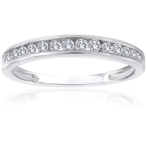Forever Bride 1/4 Carat T.W. Diamond Sterling Silver Band