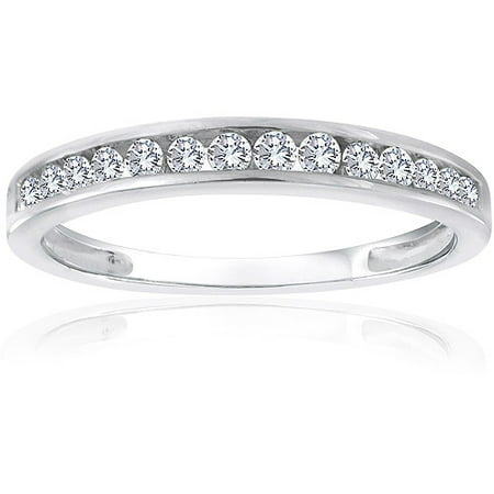 Forever Bride 1 4 Carat T W  Diamond Sterling Silver Band