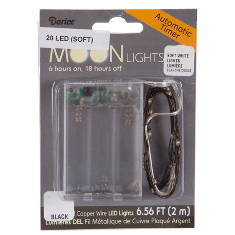 LED Firefly Fairy Lights - Automatic Timer - Soft White - 6.56 feet - 20 Lights