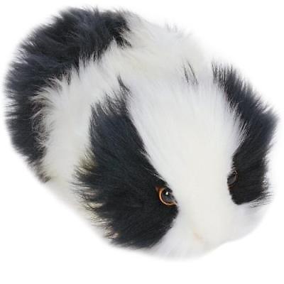 "Hansa Black and White Guinea Pig - Crouching, 8"" L"