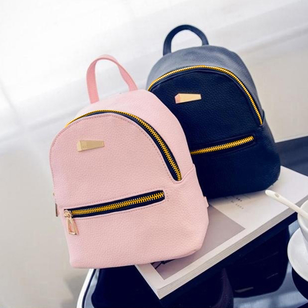 Girl12Queen Fashion Faux Leather Mini Backpack Girls Travel Handbag School Rucksack Bag