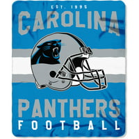 "NFL Carolina Panthers ""Singular"" 50"" x 60"" Fleece Throw"