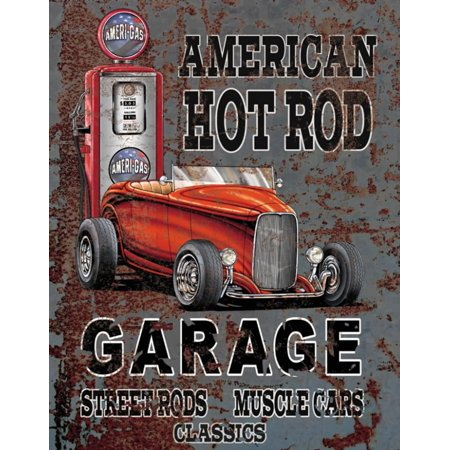 Legends - American Hot Rod Tin Sign - 12x16