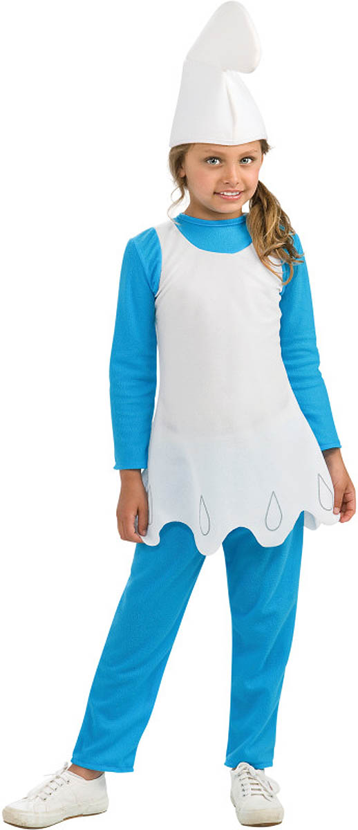 Boys Child Licensed THE SMURFS Deluxe Smurf Costume