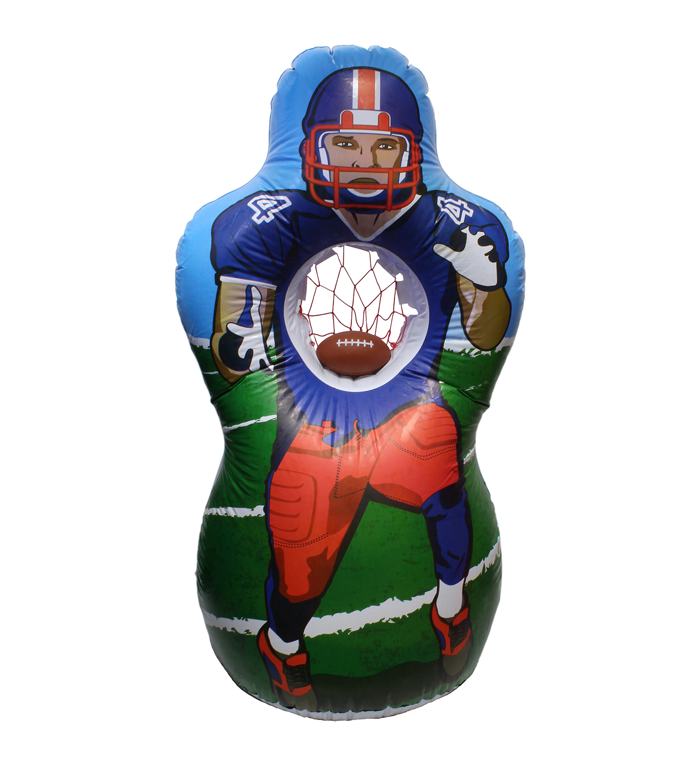 Get Out! Football Practice Inflatable QB Throwing Target and Mini Football Set 5 Feet Tall by Get Out!