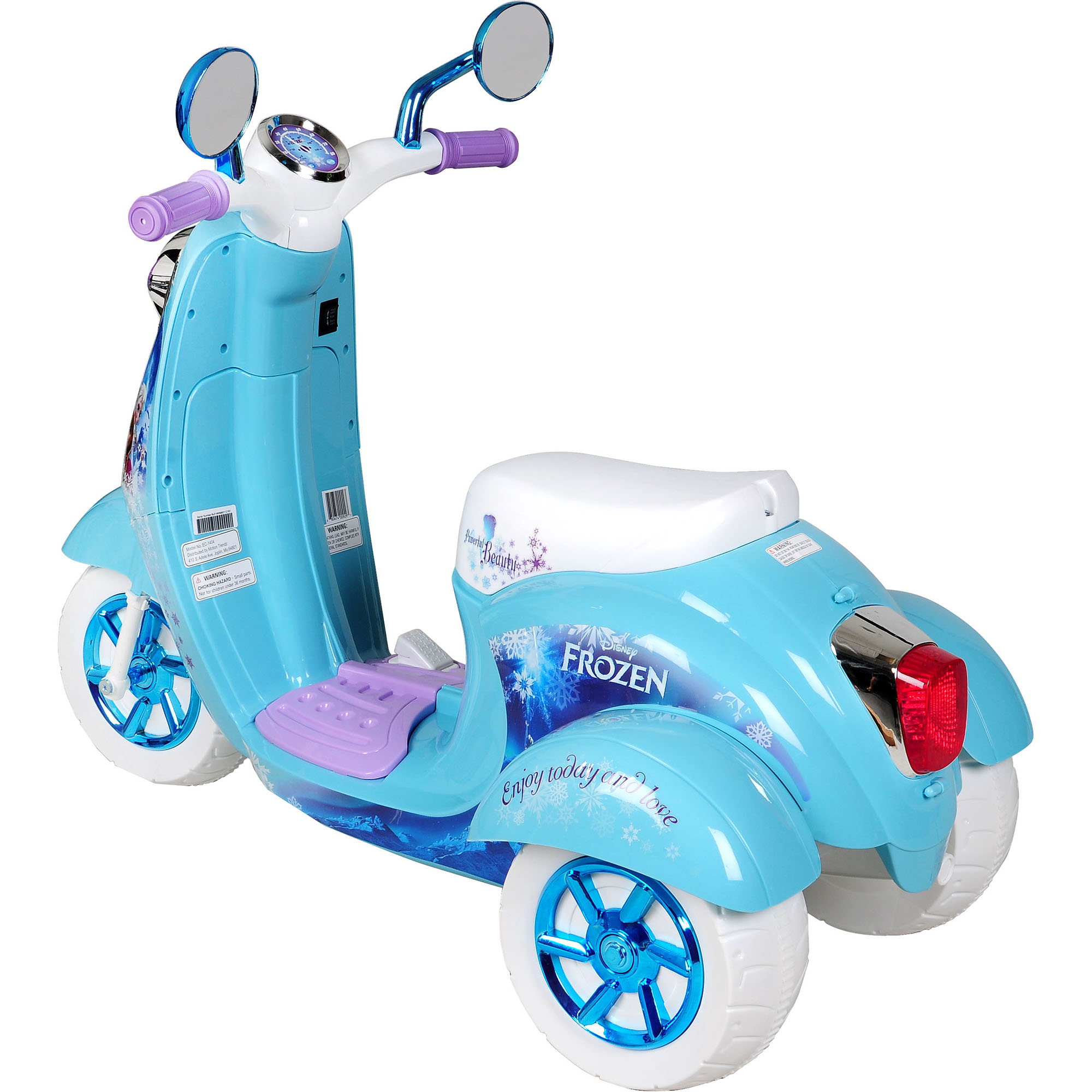 Disney Frozen 3 Wheel Scooter 6 Volt Battery Powered Ride