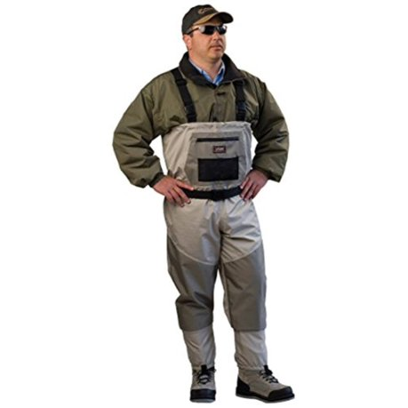 Caddis men 39 s attractive 2 tone tauped deluxe breathable for Walmart fishing waders
