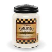 Candleberry Frosted Blueberry Donuts, Fine Fragrance Candle for The Home, Large Glass Jar, 26 oz