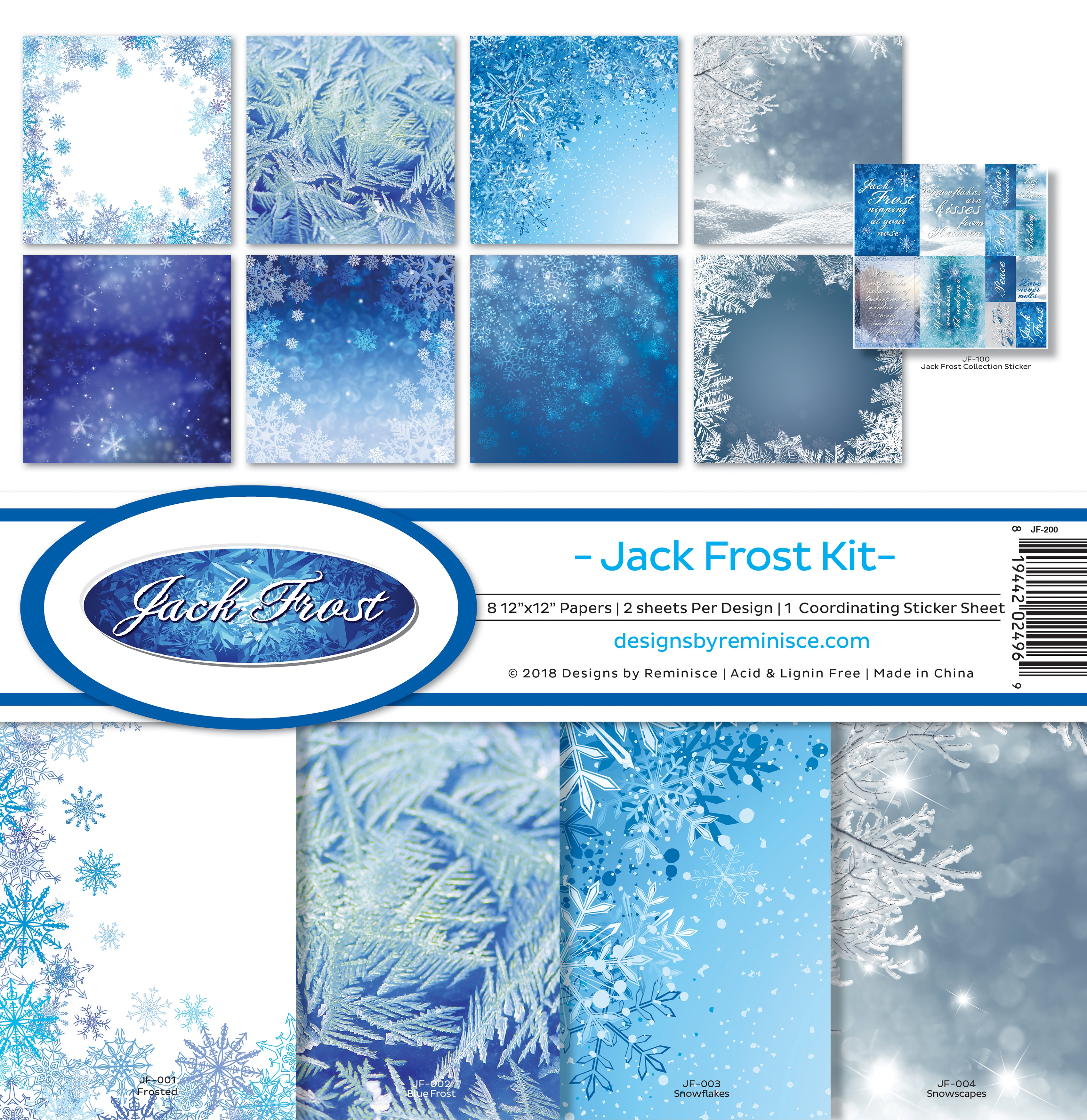 "Reminisce Collection Kit 12""X12""-Jack Frost"