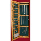 Wall Mounted Locking Wooden Jewelry Armoire 14 5w X 50h