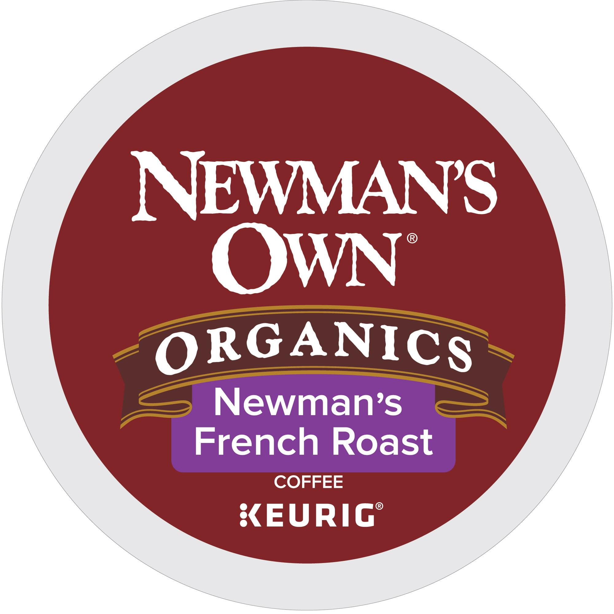 (4 Pack) Newman's Own Organics French Roast, Coffee Keurig K-Cup Pods, Dark Roast, 18 Count