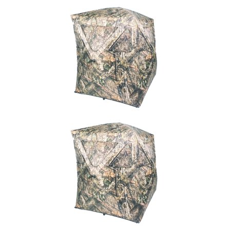 Ameristep Hub Style 2 Person Standing Ground Hunting Blind, Tru Bark (2 Pack) thumbnail