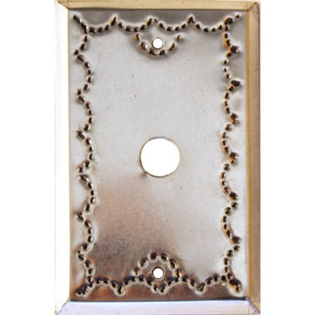 Tin Single Switchplate - Single TV Silver Tin Switchplate