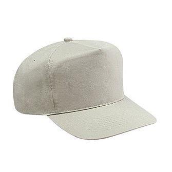 Cotton Twill Baseball Cap (OTTO Brushed Cotton Twill High Crown Golf Baseball Cap - Stone Gray )