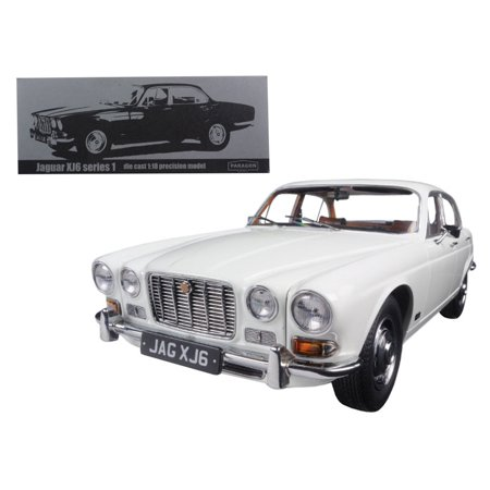 1971 Jaguar XJ6 Series 1 2.8 English White 1/18 Diecast Model Car by Paragon