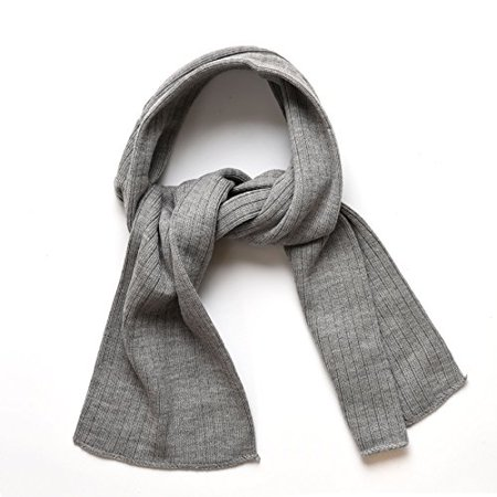 SANREMO Unisex Kids Ribbed Knitted Warm Winter Outdoor Scarf Shawl (Light