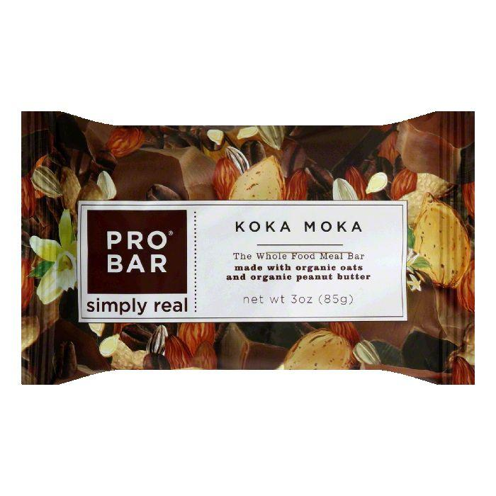 PROBAR Koka Moka Meal Replacement Bar, 3 OZ (Pack of 12)
