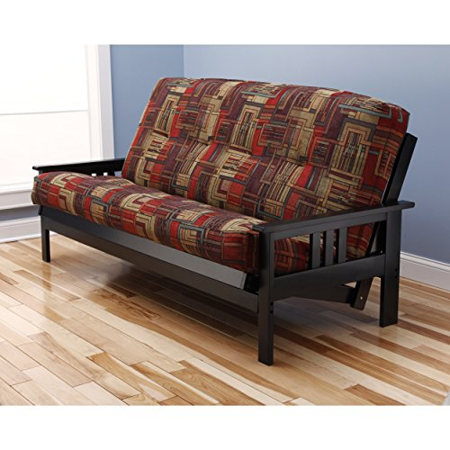 Christopher Knight Home Multi-flex Black Wood Futon Frame with Innerspring Mattress by