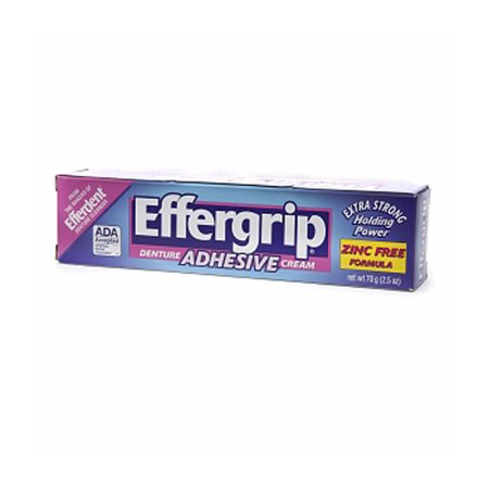 Extra Strength Adhesive - Effergrip Extra Strength Power Denture Adhesive Cream 70 Grm - 2.5 Oz, 6 Pack