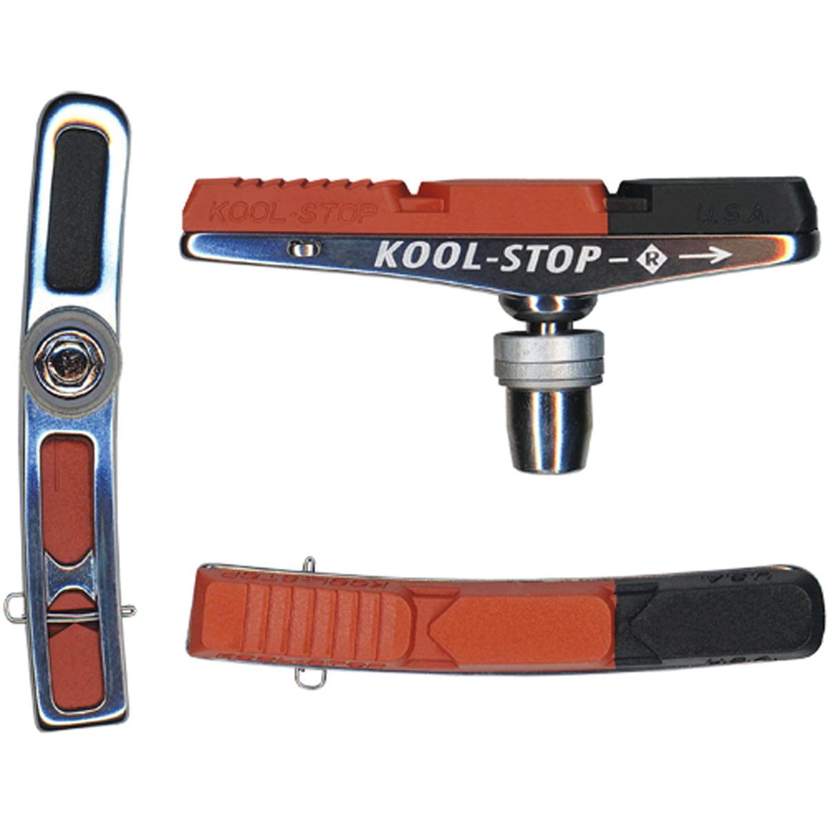 Kool-Stop V-Type 2 Dual Compound Bicycle Brake Pads - Red/Black - Pair - KS-VBH2