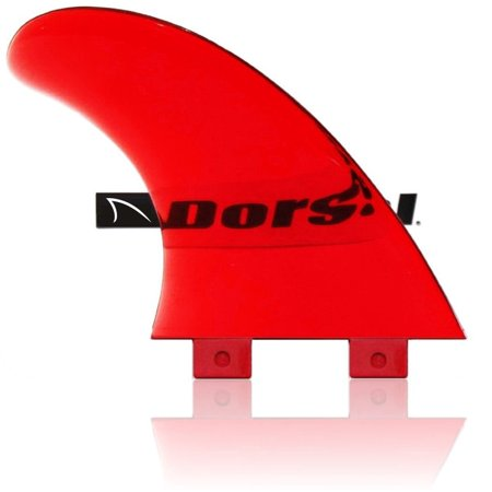 Dorsal Performance Flexrez Core Surfboard Thruster Surf Fins  3  Fcs Compatible Red