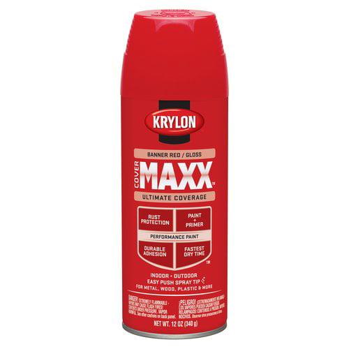 Krylon Banner Red Gloss CoverMaxx