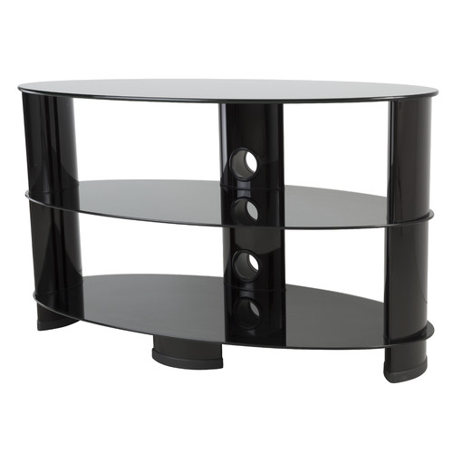 "AVF TV Stand with Glass Shelves for TVs up to 40"", Black"