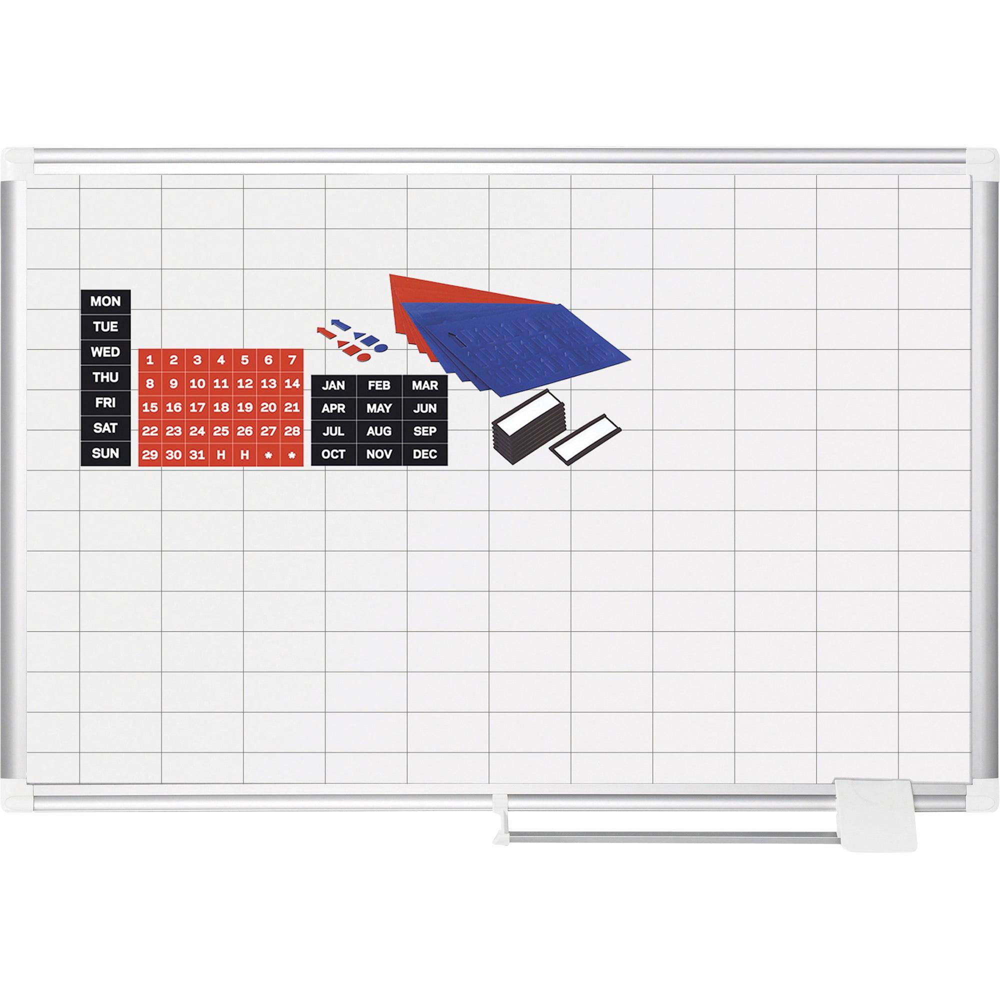 "MasterVision, BVCCR0630830A, Platinum Pure 1""x2"" Grid Planning Board, 1 Each"
