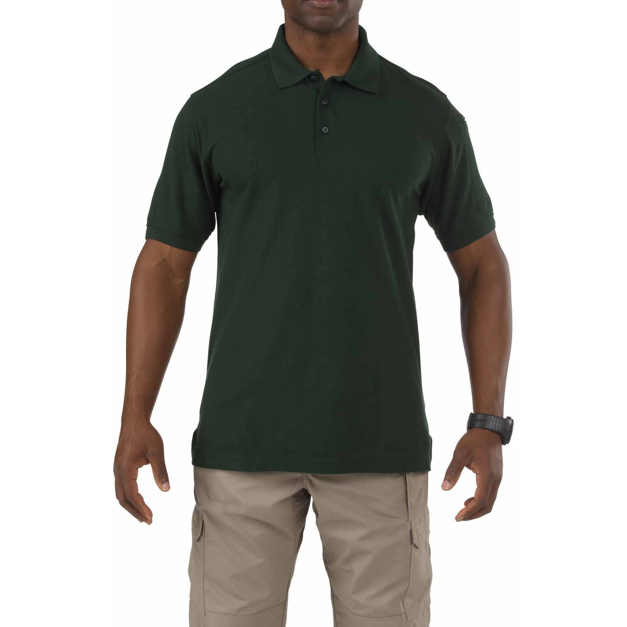 Men Utility Polo Short Sleeve, LE Green, Tall