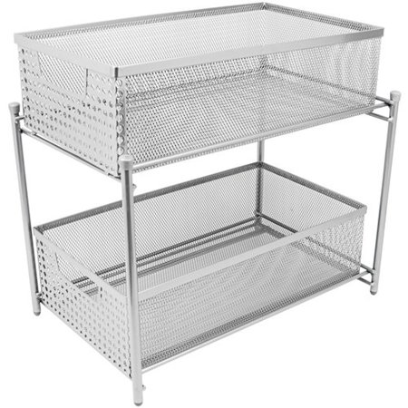 Sliding Rack Drawer (Sorbus 2-Tier Organizer Baskets with Mesh Sliding Drawers)