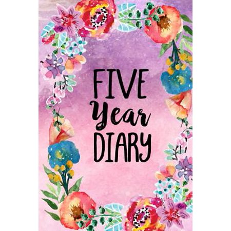 Five Year Diary : 5 Years of Memories, Blank Date No Month, 6 X 9, 365 Lined Pages